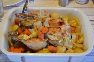 Kylling og rodfrugter