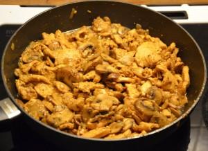 Kylling og svampe